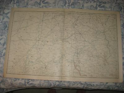 Antique 1891 Official Kentucky Indiana Illinois Ohio Civil War Atlas Map Superb
