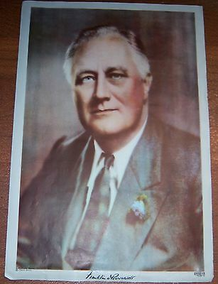 President Franklin D. Roosevelt Photographic Portrait Pach Bros. Poster FDR WWII