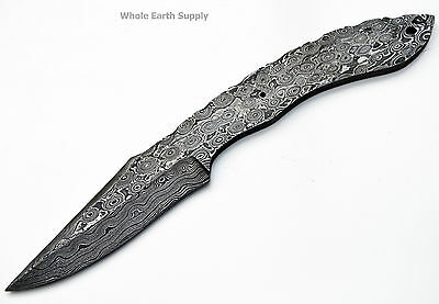 LOT OF 2 Knife Making Damascus Skinning Narrow Blank Knives Steel 1095 High Cust