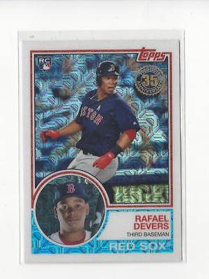 2018 Topps '83 Topps Silver Pack Chrome #20 Rafael Devers RC Rookie Red Sox