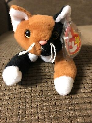 Ty Beanie Baby Chip Cat (1996) PVC Pellets dacd8ceec28e