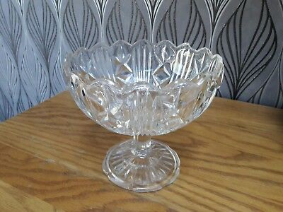 Stemmed Cut Glass Dish -  Sweets / Trifle