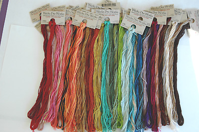 Overdyed Floss (Weeks Dye Works) 25-5 yd. skeins