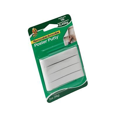 Duck Brand Reusable & Removable Mounting Poster Putty, 2 oz, White (1436912)