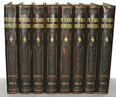 Newnes Pictorial Knowledge, 8 Vol set, George Newnes,DATED 1934 HB, Illustrated