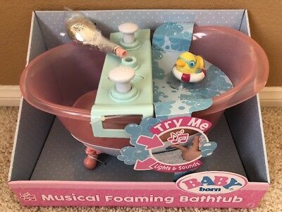 Baby Born Musical Foaming Bathtub Shower Lights Music Zapf
