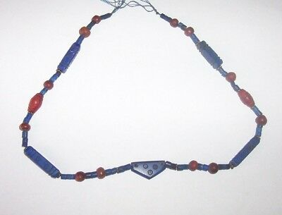 Egyptian Roman Lapiz bead Necklace c. 2nd  century B.C.  to 2nd century A.D