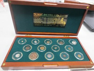 The Ancient Greek World 14-Coin Collection Set CIRCA 6th Century B.C. to 2nd Cen