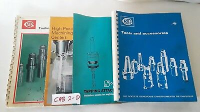 Lot of 4- Societe Genevoise Tools and Accesory Catalogs and Manuals