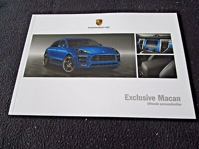 2015 2016 Porsche Macan EXCLUSIVE Brochure Macan S & Turbo Special Order Catalog