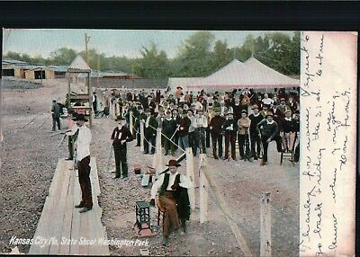 1906 Chromolithograph Postcard State Shooting Competition Missouri 122