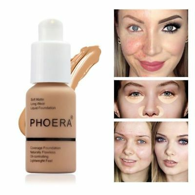 PHOERA Soft Matte Full Coverage Liquid Foundation Full Coverage Face Cream/OO*NW
