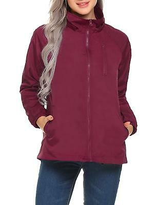 053958a94 Mofavor Women's Outdoor Lightweight Windbreaker Jacket Short Coat with  Hooded