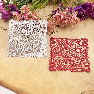 Flower Frame Cutting Dies Embossing Stencil Diy Scrapbook Album Paper Card Faddi