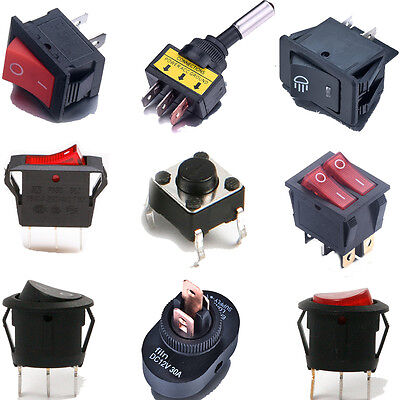 ON/OFF Button Swing Switch Round Rocker Switch For Car Dashboard Dash Boat Van