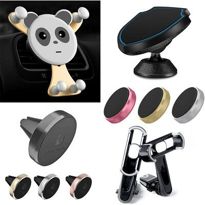 360° Magnetic Car Mount Holder Stand Air Vent Dashboard For Phone Mount Sticky