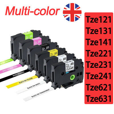 Great Quality Compatible For Brother P-Touch Laminated Tze Tz Label Tape 18/12mm