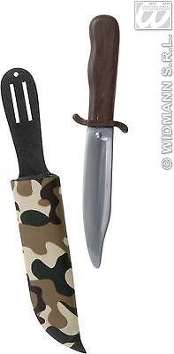 Toy Dagger Knife With Camouflage Sheath Holder Army Fancy Dress Prop Weapon NEW
