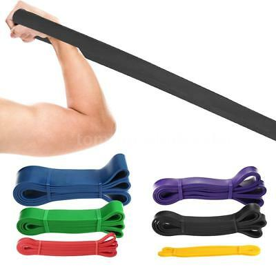 Elastic Tension Resistance Bands Rubber Loops Bands Yoga Exercise Fitness D8J2