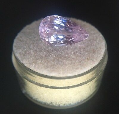 NATURAL Vivid Pink Kunzite 5.91ct Pear Cut Spodumene Loose Gem