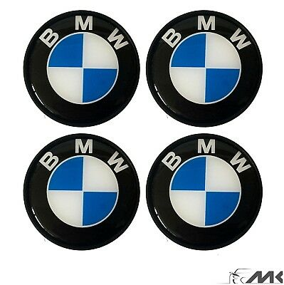 4pcs White-Blue Wheel Cover Badge Hub Emblem Center Cap 68mm for BMW HQ