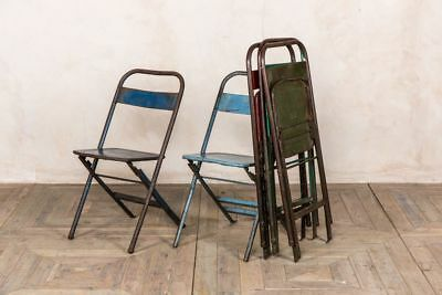 Vintage Outdoor Metal Chairs Collapsible Garden Chair Easy Store Folding Chairs