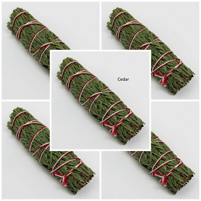 Cedar Sage Smudge: 5 Stick Value Pack! (Herb, House Cleansing Negativity Removal