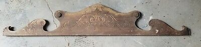 Architectural pediment repurposing wood carved crest pressed oak