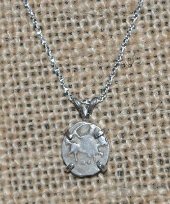 Authentic Ivan IV The Terrible Russian Hammered Wire Coin 925 Silver Necklace
