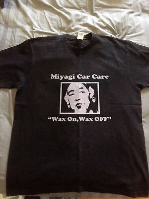 f1bf72d92 Mr Miyagi T-Shirt VTG Adult Car Care Wax On 80s 90s Karate Kid Movies