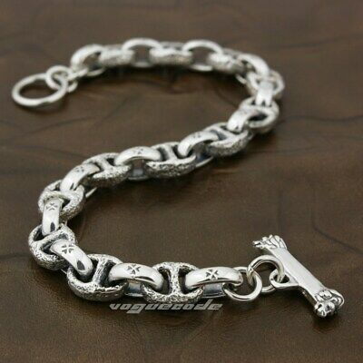 JAPANESE DRAGON 925 Sterling Silver Mens Bracelet 9