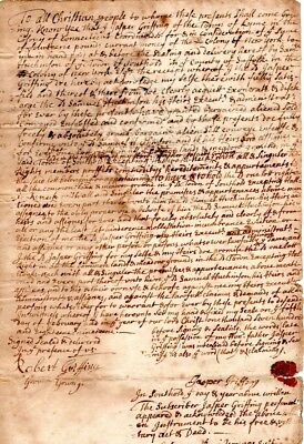1719, Lyme, Conn., Jasper Griffing sale of land, Southold Long Island, Youngs