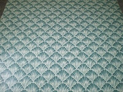 Art Deco Dark Green Scallop with White Feathery Lines by Porcelain Prints 19489