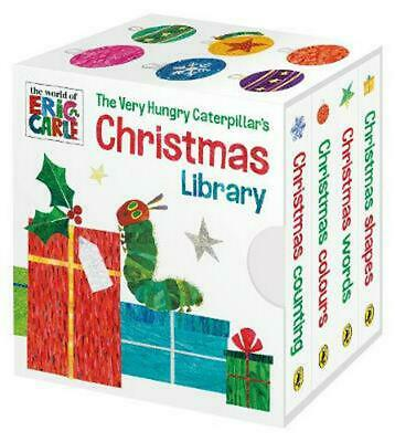 The Very Hungry Caterpillar's Christmas Library by Eric Carle Board Books Book F