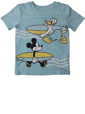 eae989c58 Infant Toddler Boys Disney Blue Mickey Mouse Donald Duck Surfborard T-Shirt