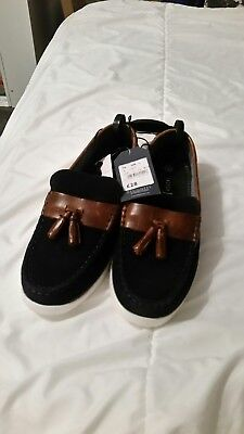 93c1705db2c J By Jasper Conran Kids  Boys  navy blue and brown Suede Boat Shoes