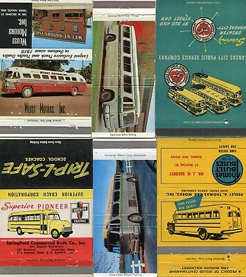 50 Bus Matchcovers - Bus Graphics
