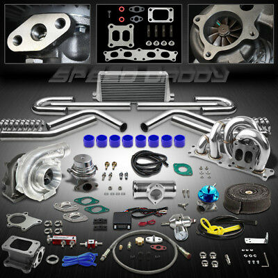 T04E 14Pc Ct25 Turbo Kit+Wg+Manifold+Intercooler 86-93 Celica 91-95 Mr2 3Sgte