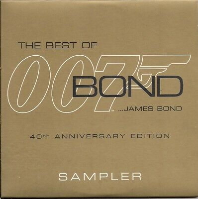 The Best Of James Bond - 40th Anniversary Edition sampler UK CD 007