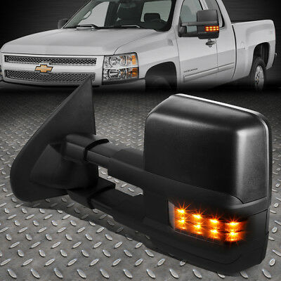 For 14-17 Silverado/sierra Left Powered+Heated+Smoked Led Signal Towing Mirror