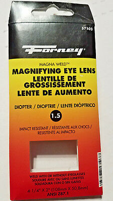 "FORNEY #57103 Clear MAGNIFYING EYE 1.50 LENS 4.25 X 2"" ANSI Z87.1 - NEW"
