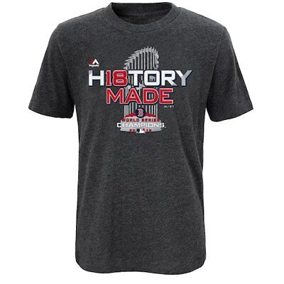 Majestic Boston Red Sox Youth Heather Charcoal 2018 World Series Champions