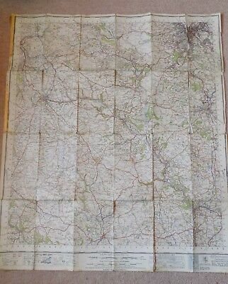 Old 1947 Linen Ordnace Survey OS Map No 111 Buxton & Matlock 1 inch to 1 mile