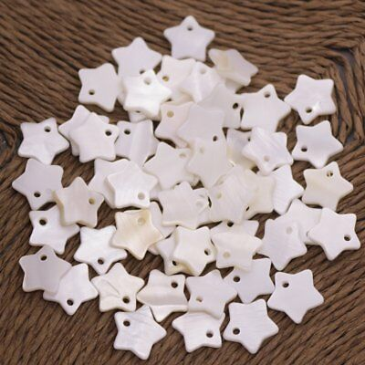 Lot 50 PCS Natural Shell Star Charm Mother of Pearl 10mm  Jewelry Making