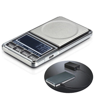 0.1g 1000g USB Digital Pocket Charging Jewelry Kitchen Scale Balance Weighing