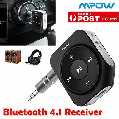 Mpow Wireless Bluetooth AUX Speaker Home Car Stereo Receiver Audio Adapter & Mic