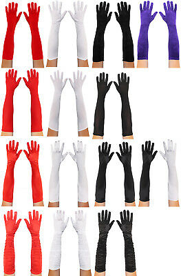 Adults Elbow Gloves Variation 1920S Flapper Dress Accessory Ladies Fancy Dress