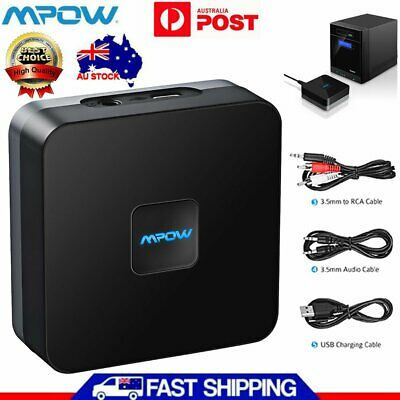 Mpow Wireless Bluetooth 4.1 Speaker Car Stereo Receiver 3.5mm Audio Adapter RCA