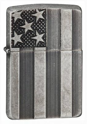 Zippo 4010765-SSI Classic US Flag Deep Carve Lighter 28974 - multi, N/A