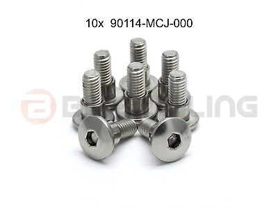 10x honda stainless steel fairing bolts with shoulder part number 90114-MCJ-000